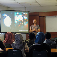 Introducing the HONF residency to students of Gadjah Mada University in Yogyakarta (Indonesia), March 2010.