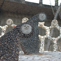 Statues made from recycled ceramics