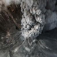 Mount Merapi (Indonesia), November 2010. This is a satellite image showing the erupton and lava flow. Photo: DigitalGlobe.
