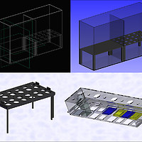 Blue Shift [LOG. 1], 2005 (with Prof. Luc De Meester). CAD designs of the core components of the installation developed in collaboration with Philips. Images: Lieve Verboven.
