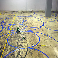Tape on Floor 4, drawing circles